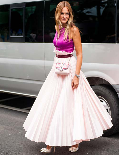 Dramatic Pleated Skirt