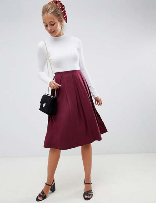 Formal Pleated Skirt