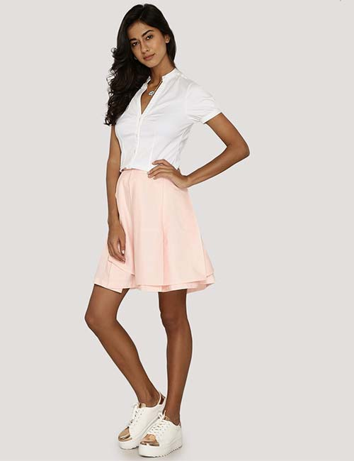 Pleated Skirt And White Shoes