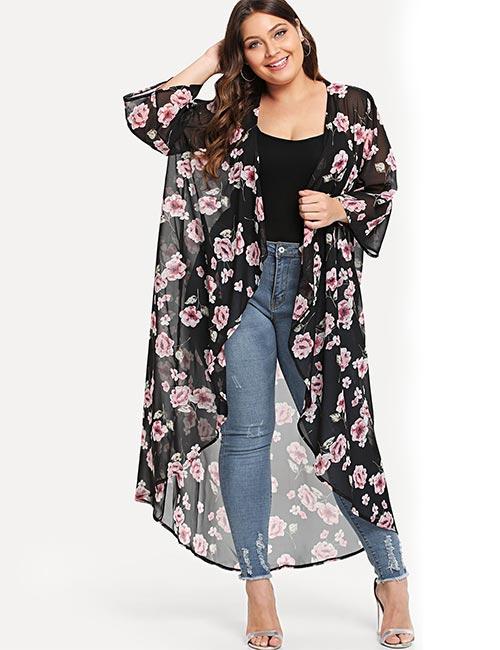 Best Plus Size Cardigans - Plus Size Floral Cardigan