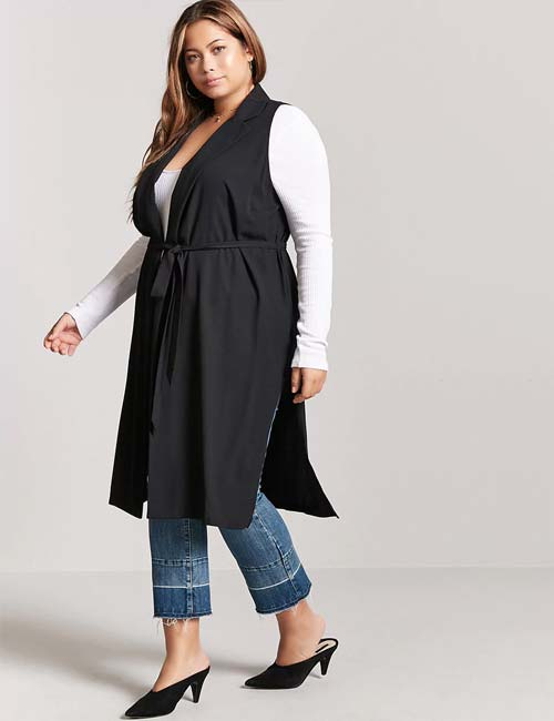 Best Plus Size Cardigans - Plus Size Sleeveless Cardigan