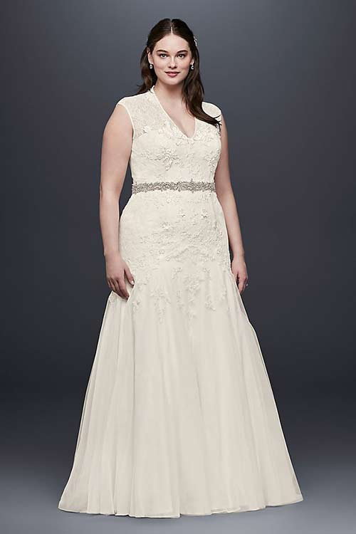 Simple Second Wedding Dresses - Trumpet Lace Dress For Brides Over 50