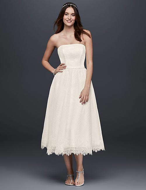 Affordable Wedding Dresses - Tea Length Lace Dress