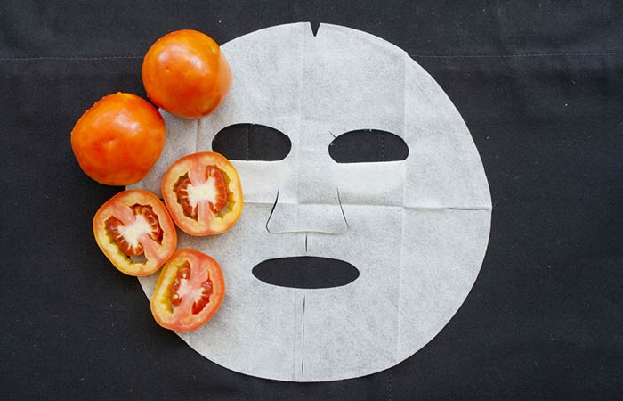 1.Tomato Face Pack