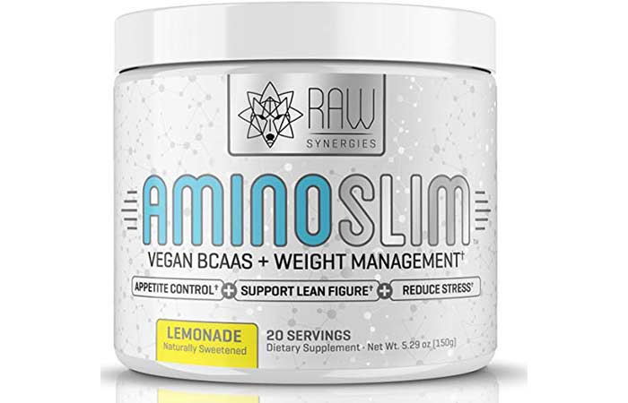 10. AMINO SLIM - Slimming BCAA Weight Loss Drink For Women, Vegan Amino Acids & L-Glutamine Powder for Post Workout Recovery & Fat Burning