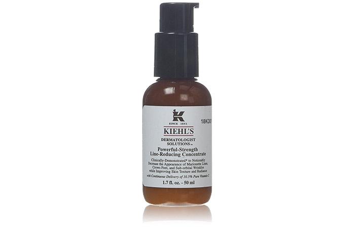 10. Мощная линия прочности Kiehl уменьшая шлих с витамином C
