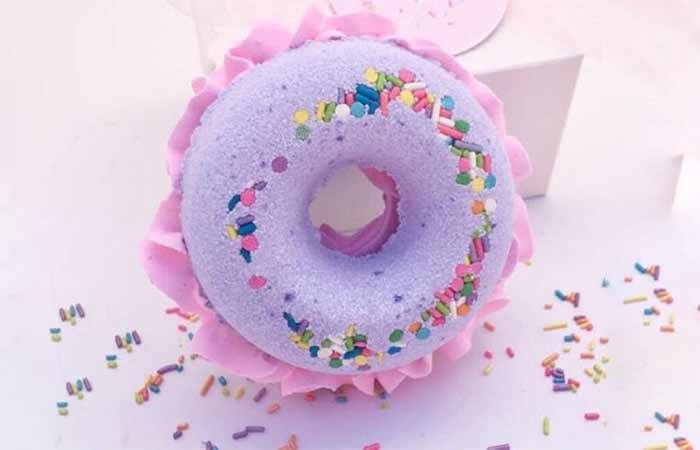 10. Velvet Moon Studio Donut Bath Bomb