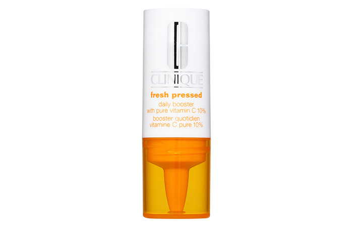 11.  Clinique Fresh Pressed Daily Booster With Pure Vitamin C