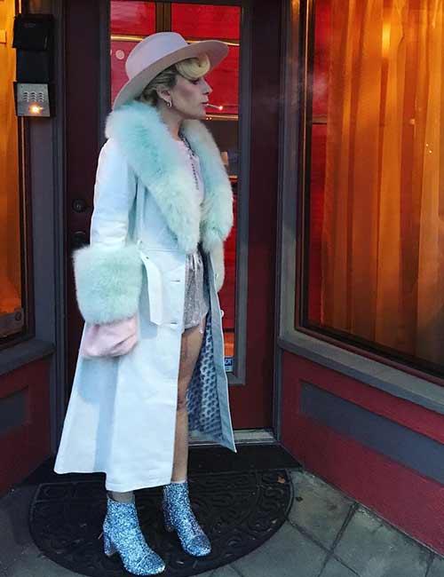 Lady Gaga's Fur Overcoat - Lady Gaga Outfits