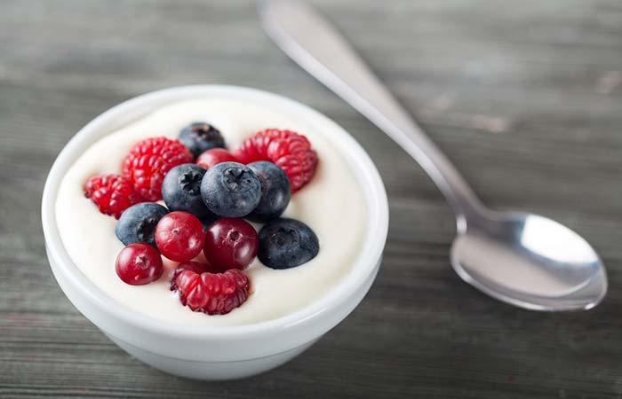 2. Fresh Fruit And Low-Fat Yogurt