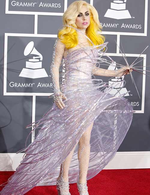 Lady Gaga In A Glittery Armani Dress - Lady Gaga Outfits