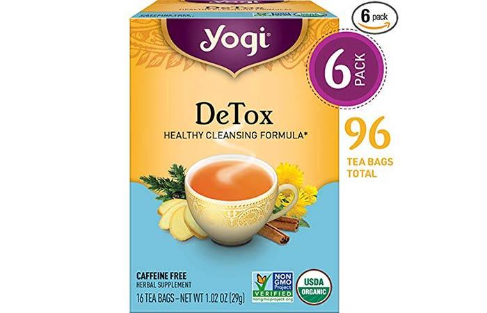 2. Yogi DeTox Healthy Cleansing Formula