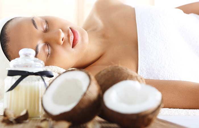 3. Moisturize With Coconut Oil