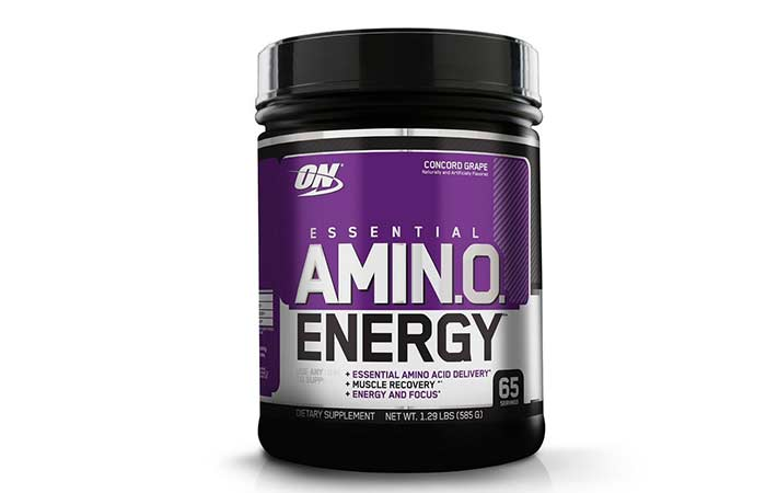 3. Optimum Nutrition Amino Energy, Concord Grape, Preworkout and Essential Amino Acids with Green Tea and Green Coffee Extract