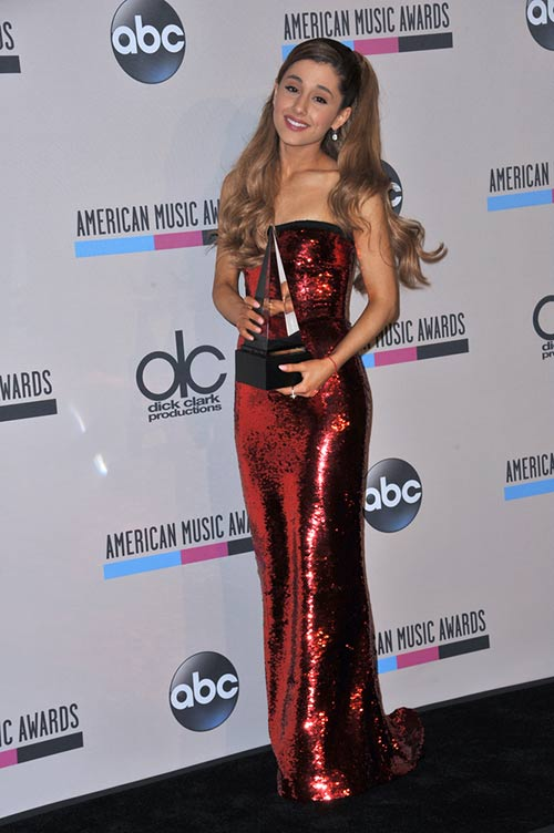 4. Ariana Grande in Dress With Dress