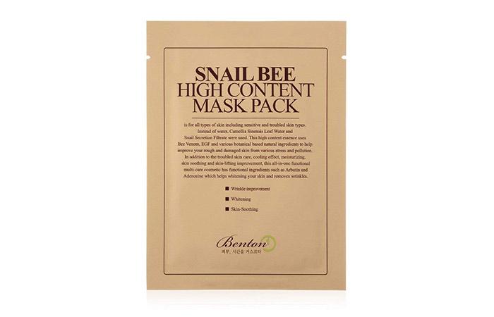 4. Benton Salyangoz Yüksek Arı Yüz Maskesi