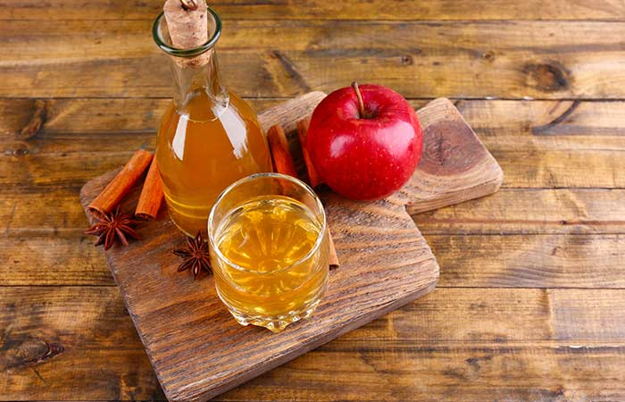5. Apply Apple Cider Vinegar