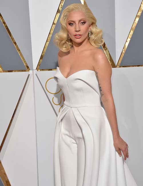 5. Lady Gaga White Romper Dress