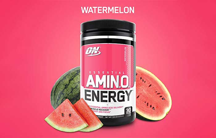6. Optimum Nutrition Amino Energy, Watermelon, Preworkout and Essential Amino Acids with Green Tea and Green Coffee Extract