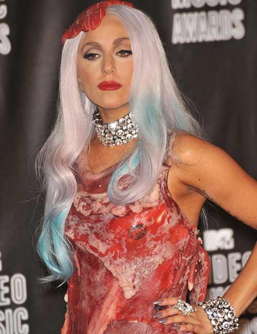 7. Lady Gaga Meat Dress