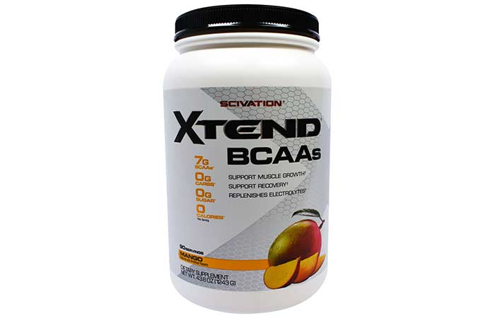7.Scivation Xtend BCAA Powder, Branched Chain Amino Acids, BCAAs, Mango