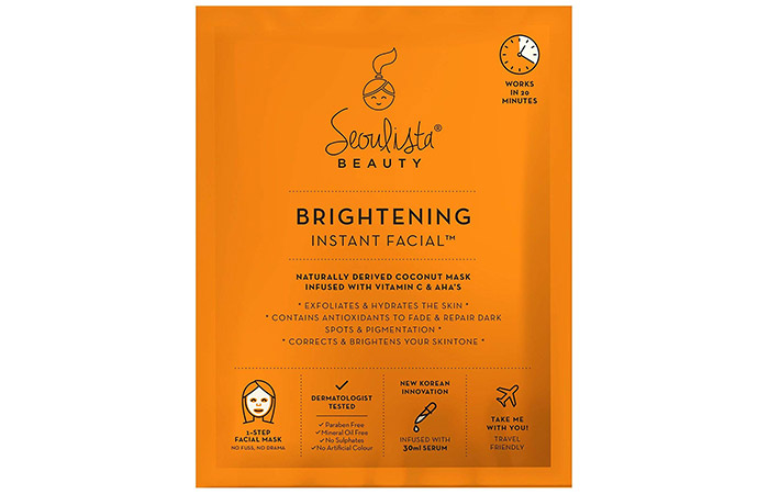 Seoulista Beauty Brightening Instant Facial Mask - Sheet Mask