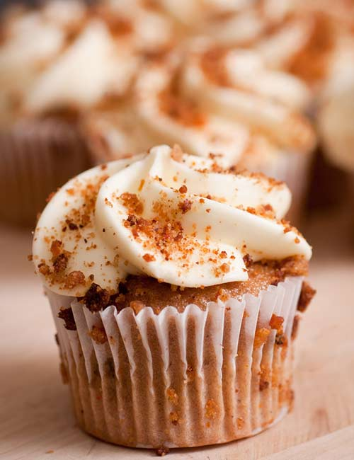 8. Keto Carrot Cupcake With Cream Cheese Frosting