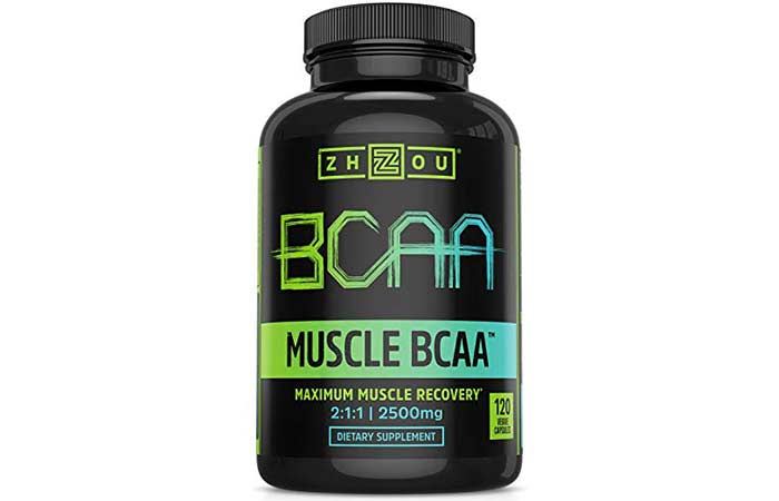 8. Zhou Nutrition Muscle BCAA - Branched Chain Amino Acids with Optimal 211 Ratio