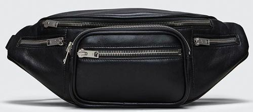 Alexander Wang Black Attica Fanny Pack - Fanny Packs