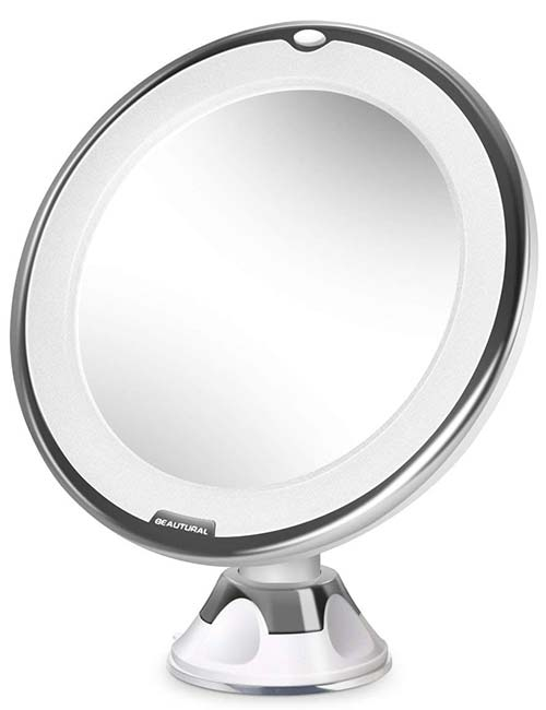 </h5> <p>  This magnifying mirror with size 10x is guaranteed to enhance your makeup. Beautural 10x Magnifying Lighted Vanity Makeup Mirror &#8221; width=&#8221;500&#8243; height=&#8221;650&#8243; /> </a> </p> <h5>  Whether you&#39;re pulling your eyebrows or contact lenses, it gives you all the precision you need. Equipped with circular LED light, its natural white light helps to reflect true colors without shadowing. You can also adjust the angle with a 360 ° swivel joint. Mount it anywhere with the suction cap or place it on a flat surface. It&#39;s portable and compact, making it comfortable to wear anywhere you want. </h5> <ul> <li>  </h5> <ul> <li>  </h5> <ul> <li>  10x Increase </li> <li>  Adjustable Angles </li> <li>  Friendly </li> <li>  Little [196590029] </h3> <p><a href=