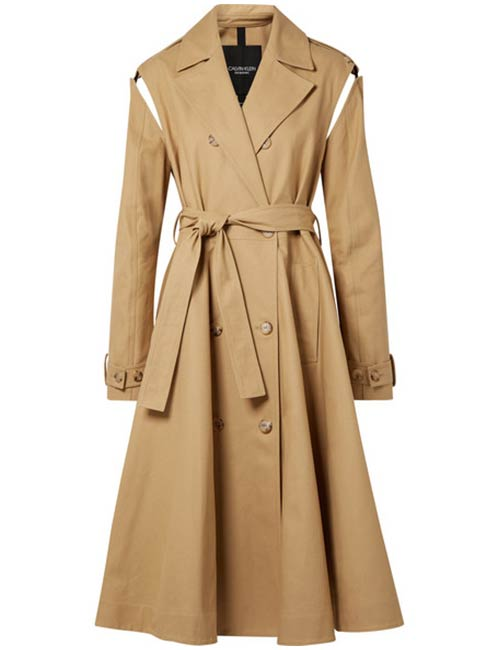 Belted Trench Coat From Calvin Klein