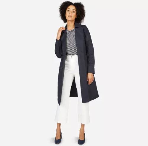 Blue Drape Trench Coat From Everlane