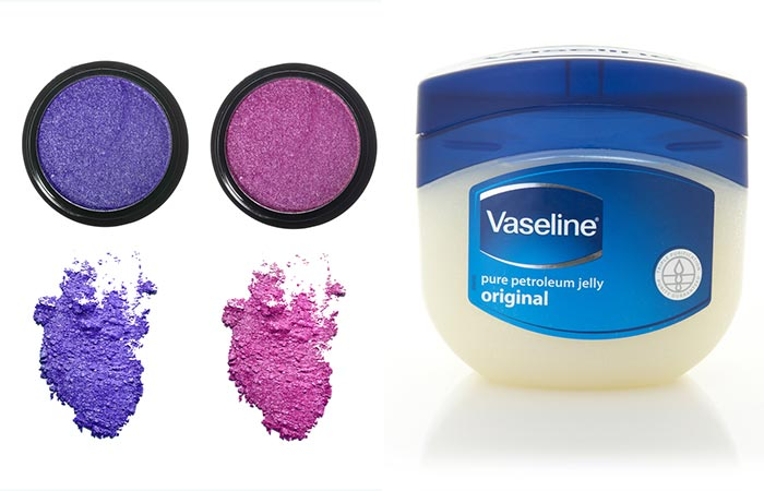 DIY Lipstick With Vaseline And Eyeshadow