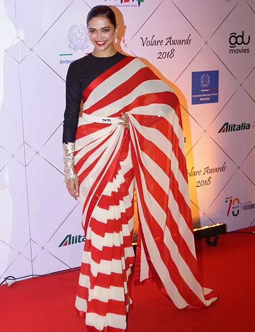 Don A Full-sleeved Blouse With Your Plain Saree