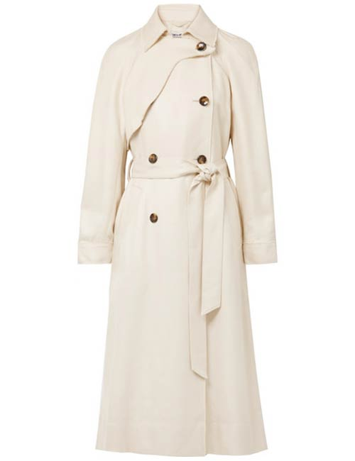 Elizabeth And James Dakotah Frayed Trench Coat
