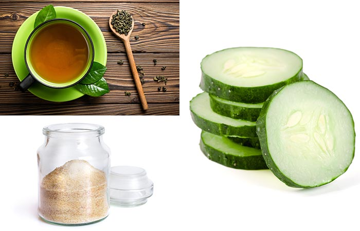 Green Tea, Cucumber, And Gelatin Face Mask