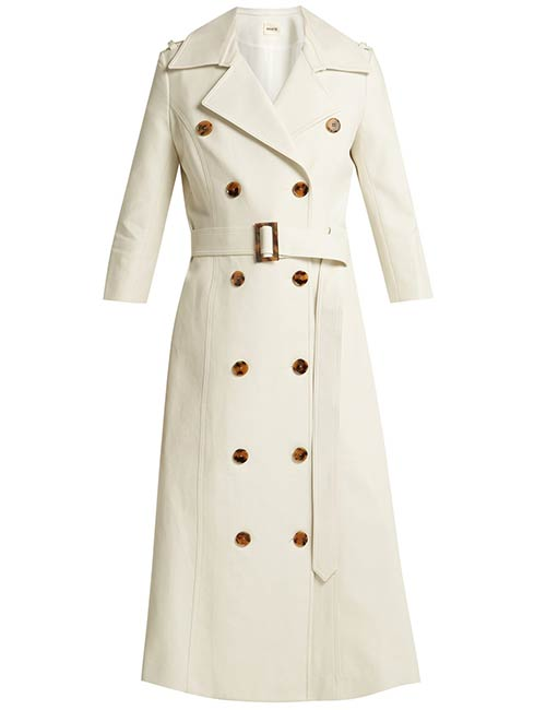 Khaite Charlotte Cotton Trench Coat