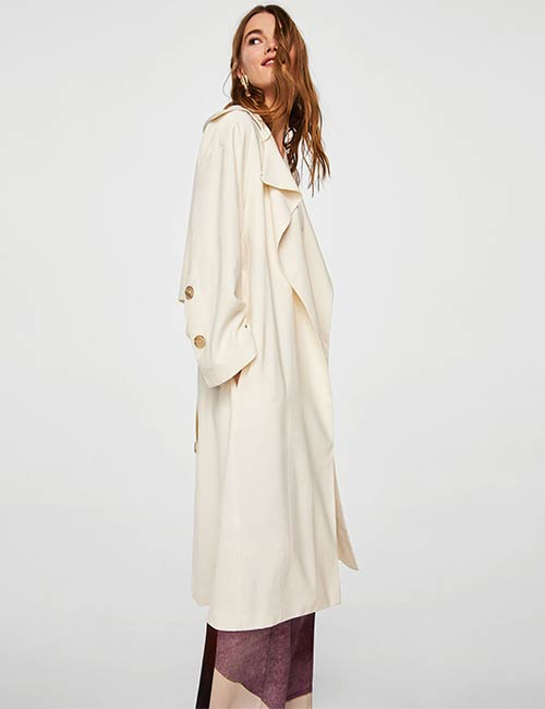 Lapel Trench By Mango