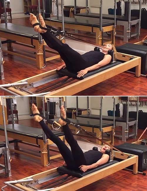 Leg Circles On The Pilates Reformer