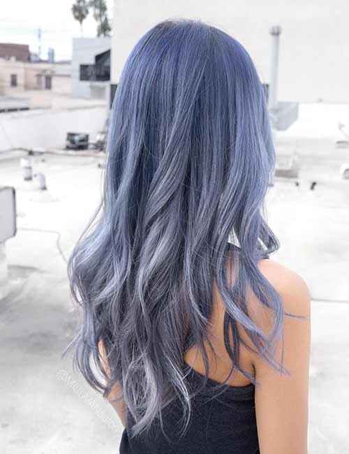 Metallic Silver Hair