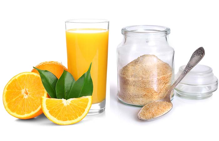 Orange Juice And Gelatin Face Mask