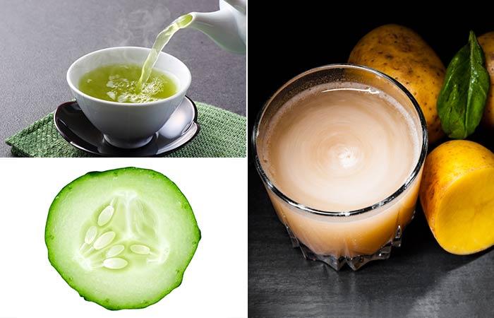 Overnight Green Tea, Cucumber, And Potato Juice Mask
