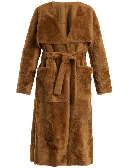 Yves Salomon Shearling Trench Coat