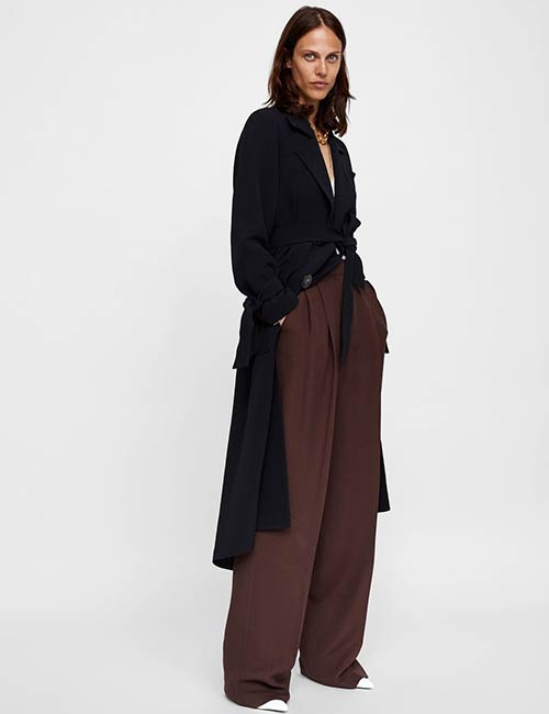 Zara Black Classic Trench Coat