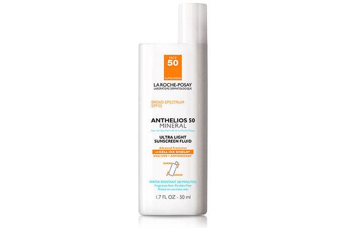 1. La Roche-Posay Anthelios Ultra-Light Mineral Sunscreen SPF 50