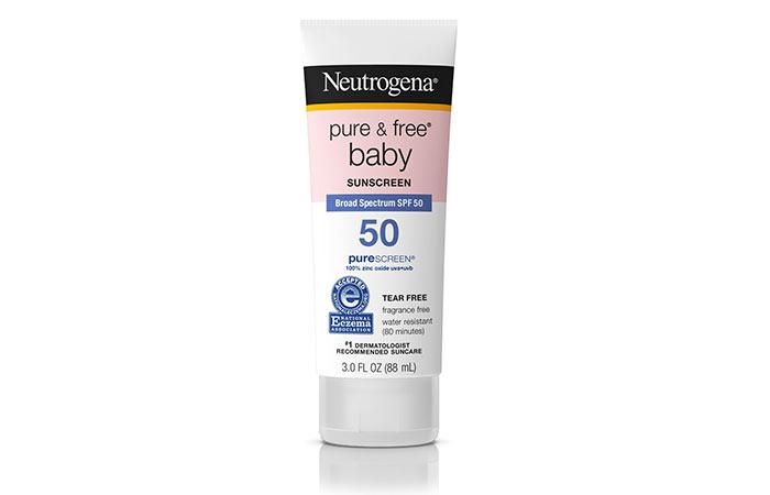 2. Neutrogena Pure & Free Baby Sunscreen