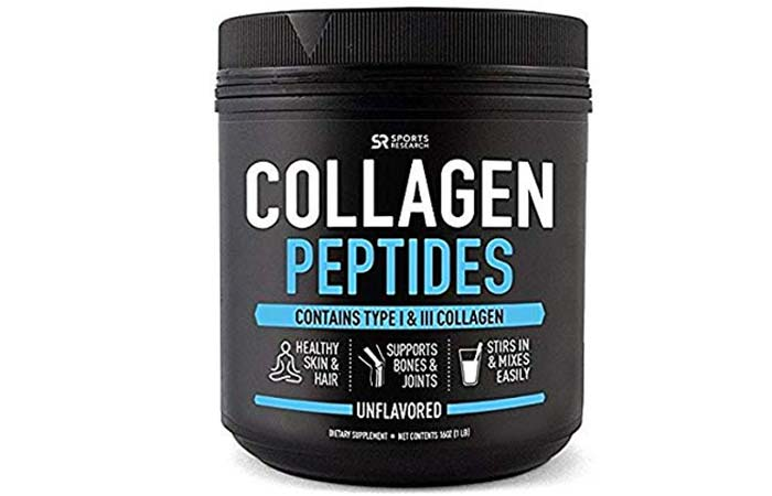 4. Sports Research Premium Collagen Peptides Powder