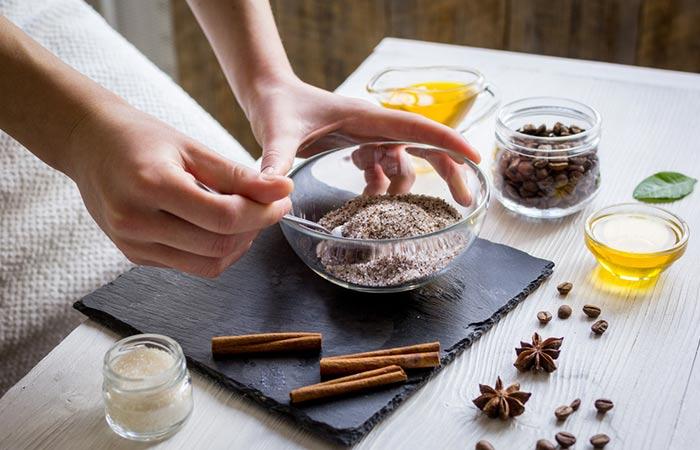 5. Coffee And Cinnamon Full Body Scrub
