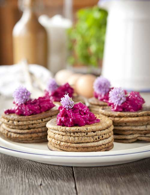 6. Buckwheat Pancake With Beet Salad