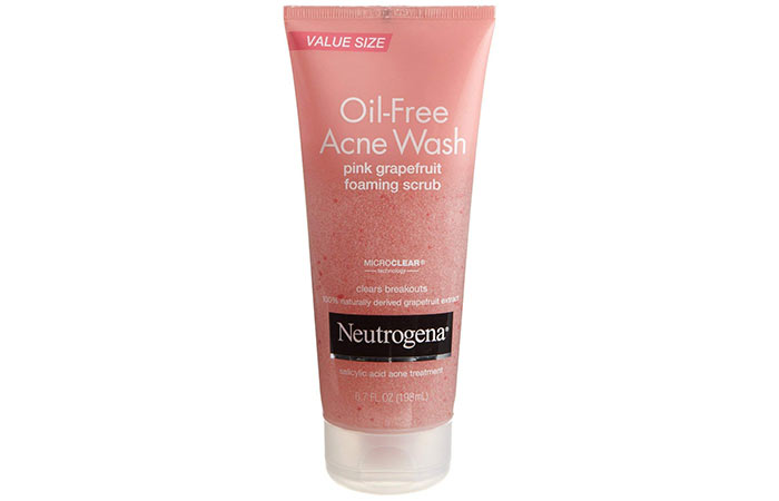 7. Neutrogena Pink Grapefruit Oil-Free Acne Wash